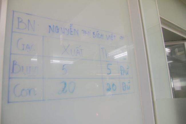 Thông tin về sản phụ được treo trong phòng mổ đẻ, việc đếm gạc mổ được kiểm soát chính xác.
