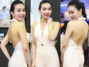 Thời trang - Hoa hậu Thùy Lâm đẹp ngỡ ngàng cùng màu nude