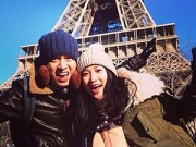Làng sao - Vợ chồng Lam Trường tình cảm dưới chân tháp Eiffel
