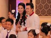 Làng sao - Lê Khánh mặc áo dài tinh khôi trong ngày cưới