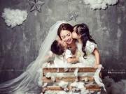Làm mẹ - Single mom Hà Thành xinh đẹp lần thứ 2 mặc váy cưới vì con