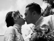 Làng sao - Victor Vũ liên tục hôn Đinh Ngọc Diệp trong đám hỏi