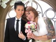 """Làng sao - Vợ chồng Vũ Duy Khánh """"hoán đổi giới tính"""" trong ảnh cưới"""