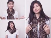 Thời trang - Video: 7 kiểu thắt khăn lụa đẹp và lạ nhất thu đông 2015