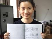 Tin tức - Du học sinh Việt gây sốt vì viết tiếng Trung quá đẹp
