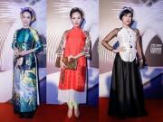 Thời trang - Linh Nga mặc áo dài gấm lung linh khoe sắc