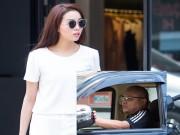 Làng sao - HH Kỳ Duyên được bố làm tài xế chở đi mua sắm