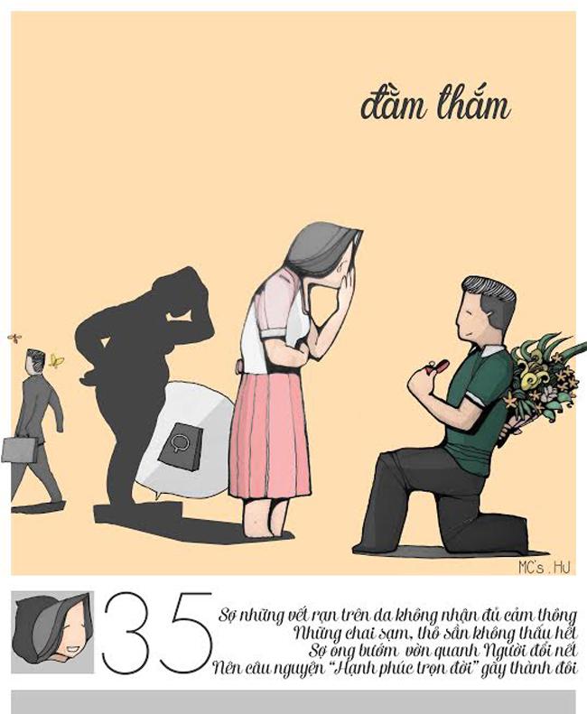 """28 – 35 tuổi: Tuổi để nghiêm túc tìm kiếm bạn đời và bước đến hôn nhân. Điều họ lo lắng ở đây là """"lấy chồng như chơi canh bạc"""""""