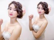 Làm đẹp - Trang điểm cô dâu mùa thu theo phong cách cổ điển