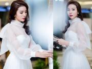 Thời trang - HH Kỳ Duyên diện đầm trắng xinh như công chúa