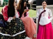 Thời trang - Thích thú xem bạn trẻ Hàn mặc quốc phục đi xem thời trang