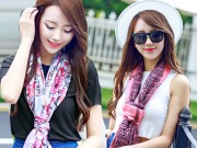 Thời trang - Những cách thắt khăn lụa khiến ai cũng phải ngoái nhìn