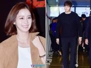 """Làng sao - Kim Tae Hee tươi rói đi cổ vũ """"bạn trai màn ảnh"""""""