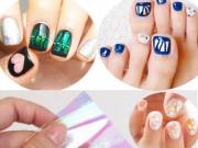 Tư vấn làm đẹp - Bạn gái Hàn Quốc mê mẩn màu nail như kính vỡ