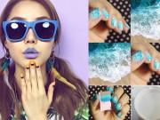 Làm đẹp - 7 mẫu nail đẹp lung linh bạn tự làm không cần ra tiệm