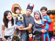 Việt Hương, Thái Hòa vui chơi cùng con ngày Halloween