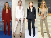 Mặc vest để thon gọn tuyệt vời như các mỹ nhân thế giới