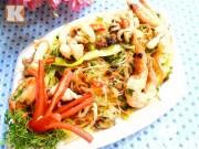 Bếp Eva - Hấp dẫn với miến xào hải sản