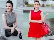 Thời trang - Diễm Hương xách túi trăm triệu sang chảnh xuống phố