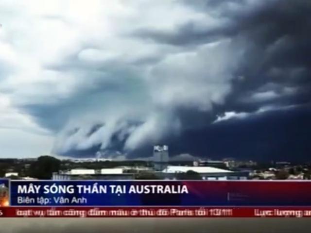 Tròn xoe mắt trước mây sóng thần tại Úc
