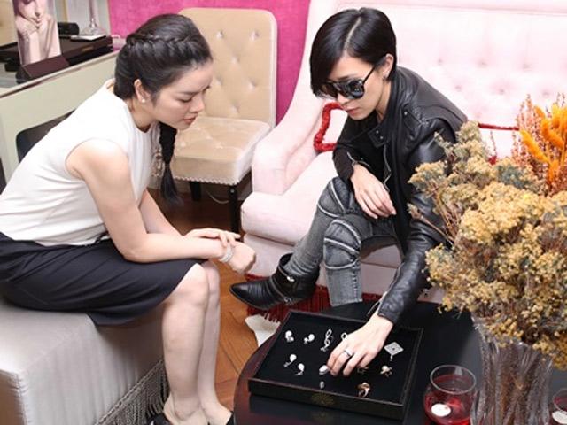 Lý Nhã Kỳ chơi sang với siêu sao TVB Xa Thi Mạn