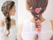Làm đẹp - 7 kiểu tóc tết đẹp như nữ thần cho cô dâu ngày cưới