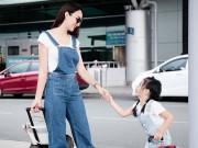 Làng sao - HH Ngọc Diễm và con gái tình cảm ở sân bay