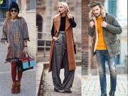 Tín đồ thời trang trổ tài mix đồ đông sành điệu