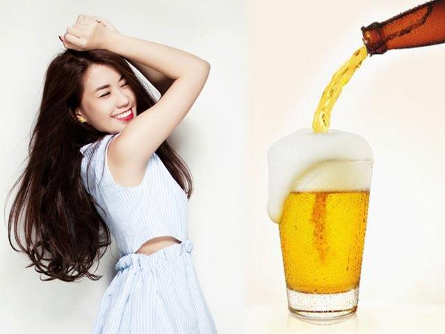 Ngọc Thảo hướng dẫn cách làm trắng da bất ngờ từ bia