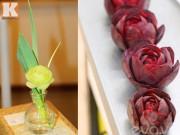 Tỉa hoa hồng từ các loại củ quả siêu đẹp