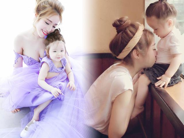 Ngất ngây với thời trang đôi dễ thương của mẹ con Elly Trần