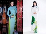 Thời trang - Kiểu họa tiết áo dài Hoa hậu Việt nào cũng phải có