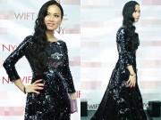 Làng sao - Hà Phương quyến rũ dự sự kiện ở Hollywood