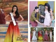 Thời trang - Lý Quí Khánh hạnh phúc tột độ vì đầm dạ hội Lan Khuê đạt giải nhất