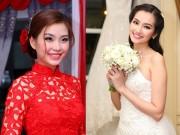 Làm đẹp - Những kiểu tóc cô dâu đẹp nhất của sao Việt cưới năm 2015