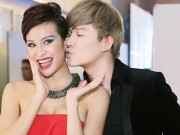 Làng sao - Nathan Lee bất ngờ hôn Phương Mai trong hậu trường