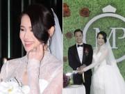 """Làng sao - Hồ Hạnh Nhi khoe nhẫn kim cương """"khủng"""" trong đám cưới"""