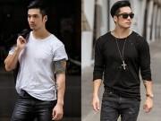 Thời trang - Soái ca Thiên Nguyễn cá tính với trang phục đen