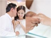 Làng sao - Bạn trai Việt kiều thơm má Khánh Hiền khi đi thử nhẫn cưới