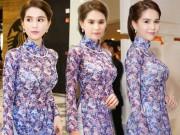 Thời trang - Thời trang sao Việt đẹp: Thật ra Ngọc Trinh mặc áo dài còn gợi cảm gấp bội khi khoe nội y