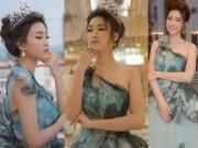 Thời trang - Hoa hậu Đỗ Mỹ Linh đẹp ngất ngây khi lần đầu xuất ngoại đi công tác
