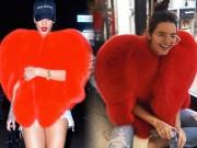Thời trang - Nhờ có Rihanna, chiếc áo lông hình trái tim kỳ quái lại trở thành cơn sốt