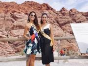 Nguyễn Thị Loan thân thiết với người đẹp Venezuela