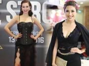 """Thời trang - Thời trang sao Việt xấu tuần qua: Pha Lê, Khánh My """"xuống cấp"""" vì ren"""