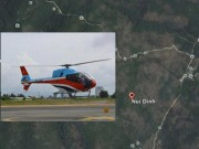 Trực thăng chở 3 người rơi ở Bà Rịa-Vũng Tàu