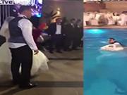 Clip Eva - Video: Cô dâu, chú rể nắm tay nhau nhảy xuống hồ trong đám cưới