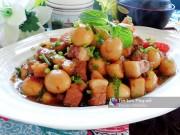 Bếp Eva - Thịt kho trứng cút đậm đà ngày gió mùa