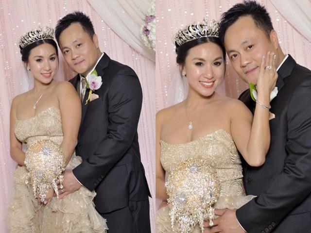 Diễn viên Y Phụng hạnh phúc bên ông xã trong đám cưới lần 2 tại Mỹ