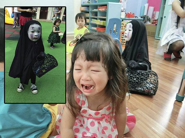 Đây mới là cô bé có màn hoá trang Halloween lầy nhất khối mẫu giáo năm nay