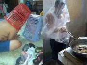 Làm mẹ - 14 bức hình chứng minh mẹ vắng nhà, bố Việt chăm con cũng đảm đang như ai